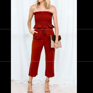 Two piece cropped pant set - new with tags!